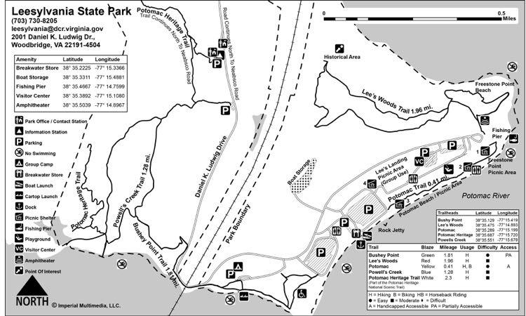 Leesylvania State Park trail map