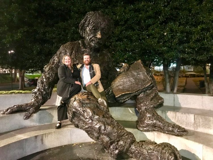 Albert Einstein Memorial is a fun photo stop in Washington DC