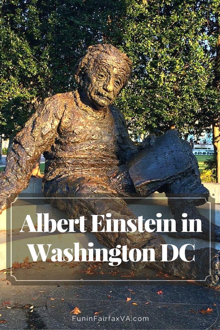 Our Saturday Postcard highlights the memorial to Albert Einstein in Washington DC, a hidden gem that's a fun destination for math inspiration and photos.