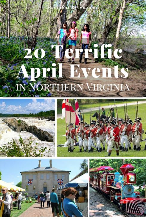 Here are 20 terrific April 2016 events in Northern Virginia to enjoy nature, reenact history, entertain the family, indulge the senses, and celebrate spring.