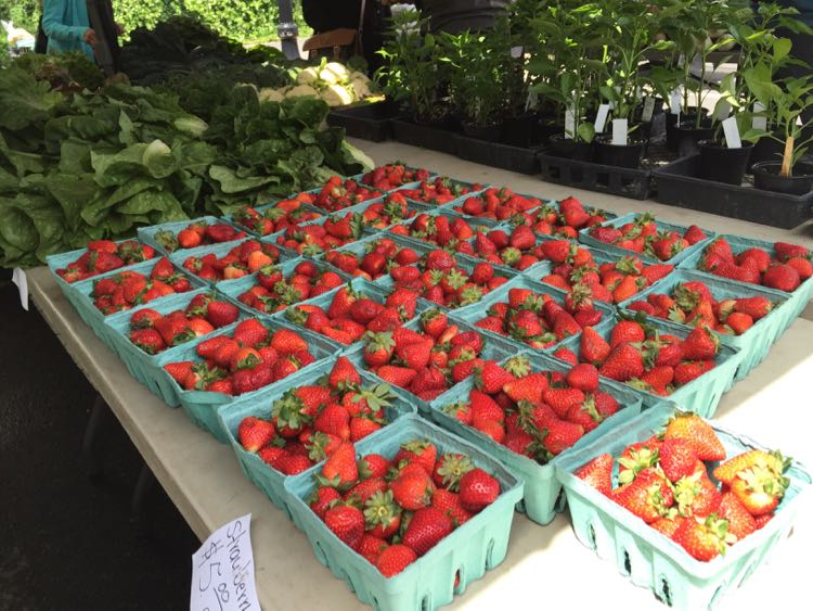 Northern Virginia Farmers Market strawberries