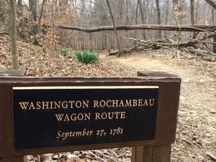 Washington Rochambeau Wagon Route sign Virginia