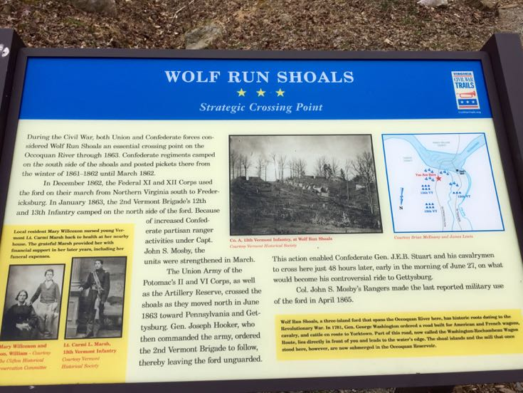 Wolf Run Shoals historic marker Virginia