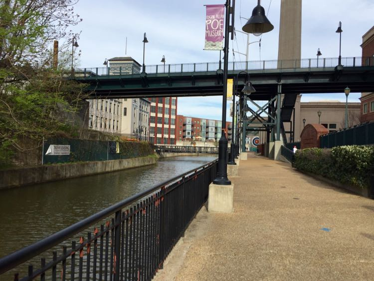 The Canal Walk is a scenic introduction to Richmond VA history