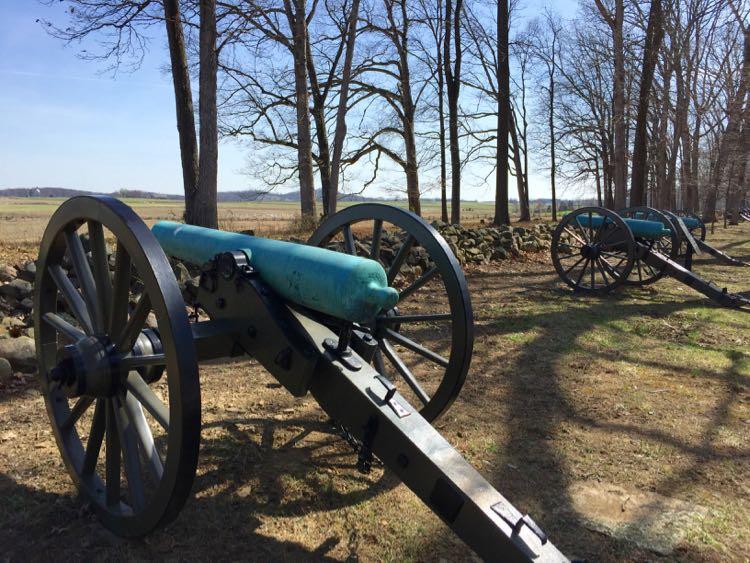 Cannon on Seminary Ridge Gettysburg NMP