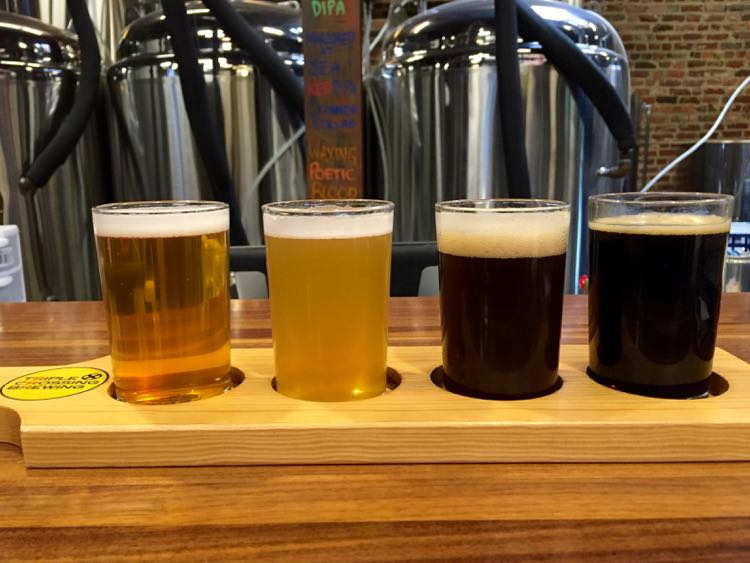 Flight Triple Crossing Brewing Richmond Virginia