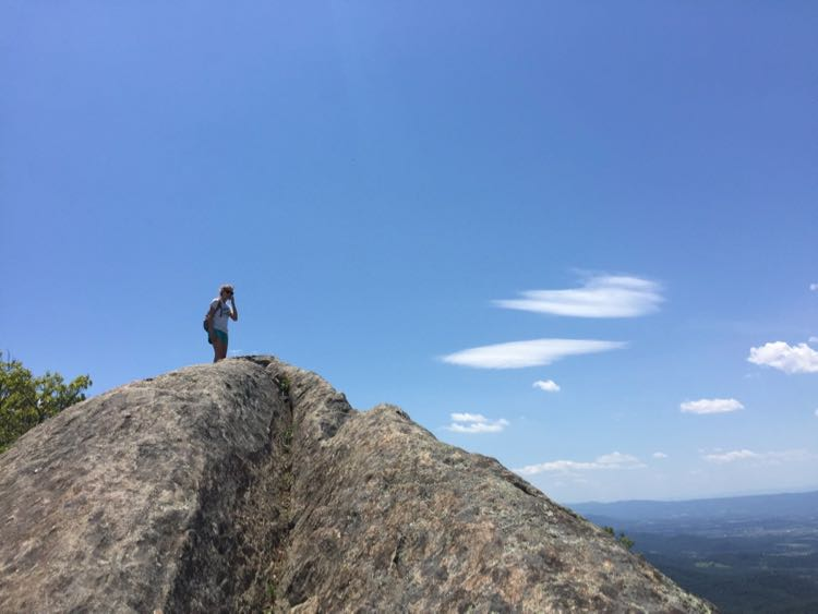 Enjoying the high point on the Mary's Rock hike