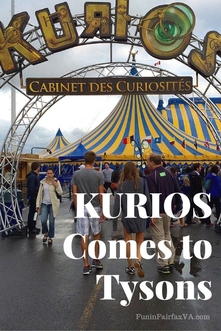 Fantasy will be easier to find during the warm days of summer when Cirque de Soleil's mesmerizing show KURIOS comes to Tysons, Virginia.