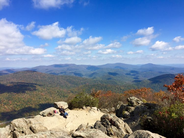 Relaxing at Marys Rock Shenandoah NP