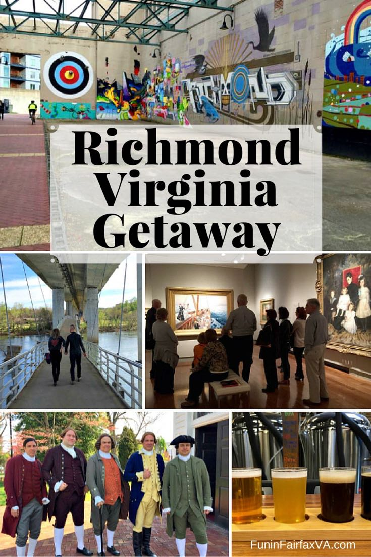 From urban hikes; to food and brews; to history, museums, and street art; it's easy to enjoy a Richmond Virginia getaway in this cool, capital city.