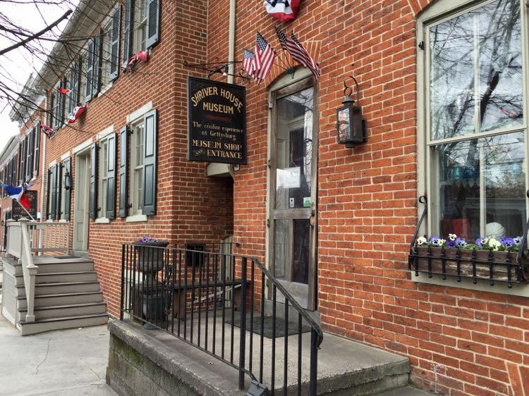 Shriver House Museum exterior Gettysburg PA