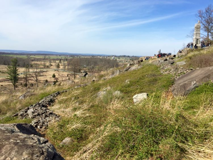 View from Little Round Top Gettysburg NMP Pennsylvania
