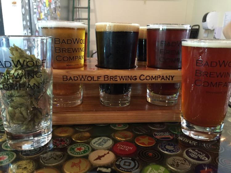 BadWolf Brewing sampler