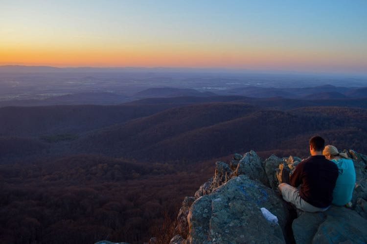 Humpback Rocks is a favorite spot to enjoy a sunset in Northern Virginia, photo by Katherine McCool