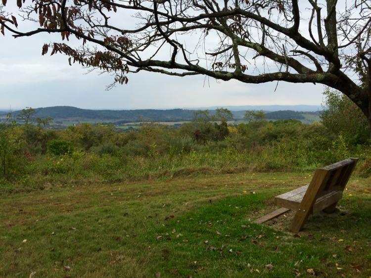 South Ridge Trail view Sky Meadows Virginia