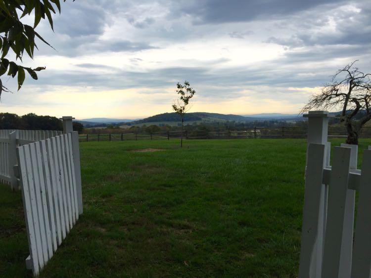 View from Bleak House Sky Meadows SP Virginia