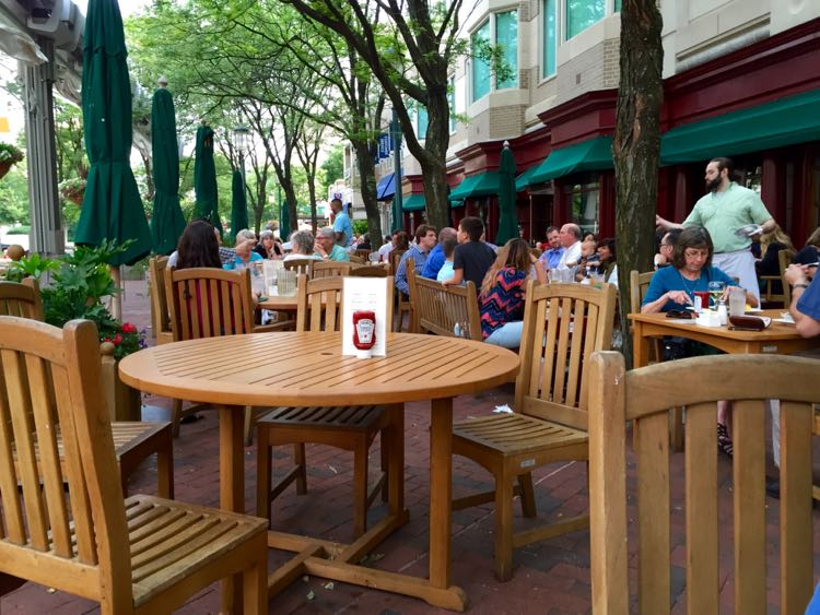 Clydes patio Reston Town Center VA