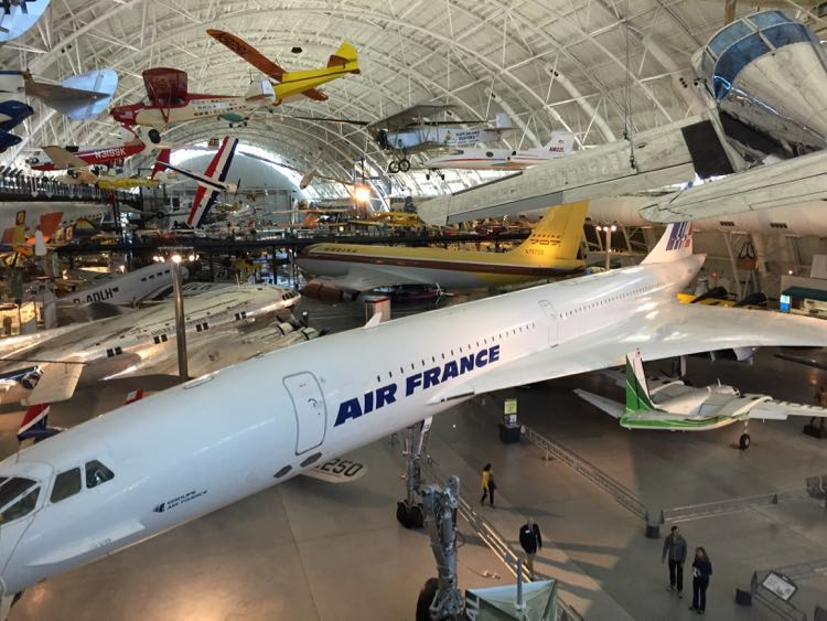 Udvar-Hazy Air and Space Museum is one of the best indoor day trips near Washington DC