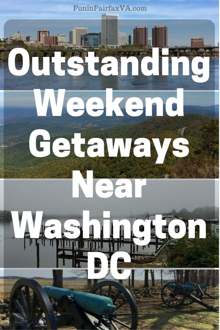 These weekend getaways near Washington DC offer spectacular nature, delicious food and drink, urban adventures, and rich history, all within a 3 hour drive.