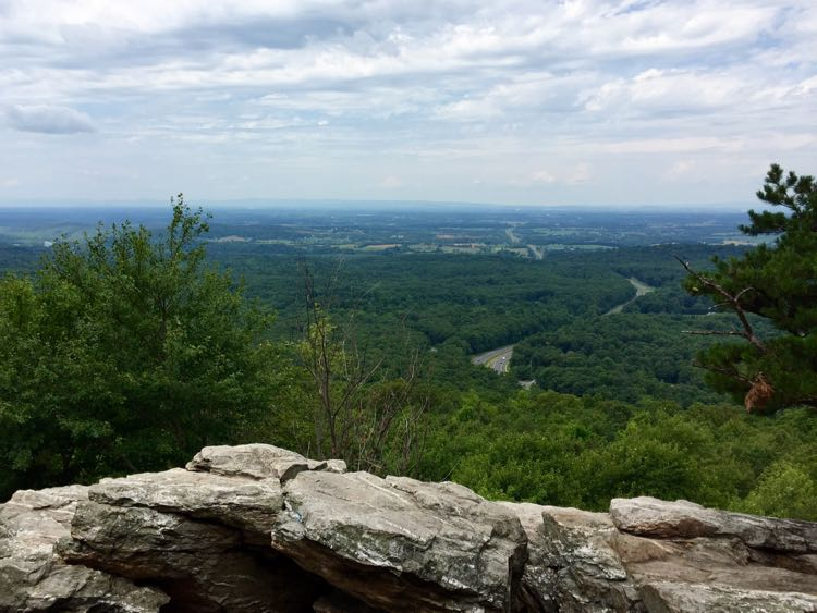 The view from Bears Den Overlook in Bluemont Virginia