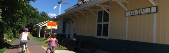 The W & OD Bike Trail ends in Purcellville Virginia
