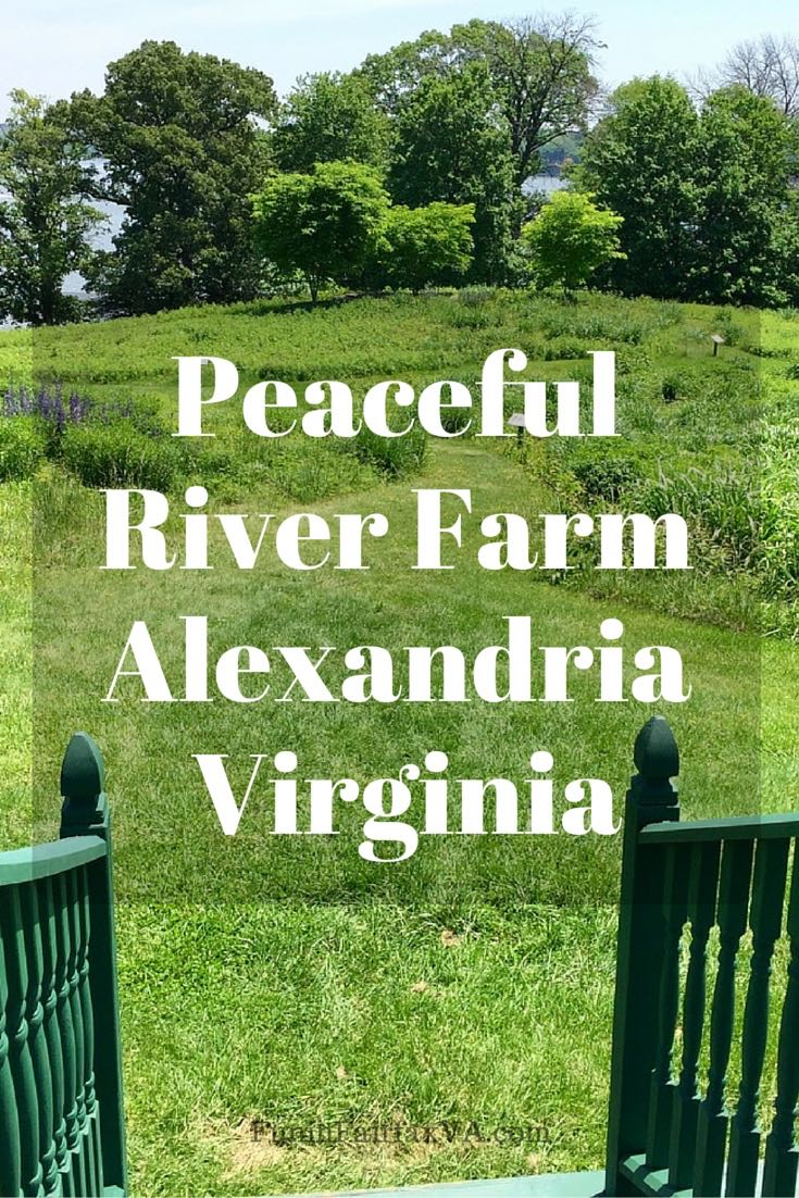 Soothing Potomac River views and the colors of nature welcome visitors to peaceful River Farm, on George Washington's farmland in Alexandria Virginia.