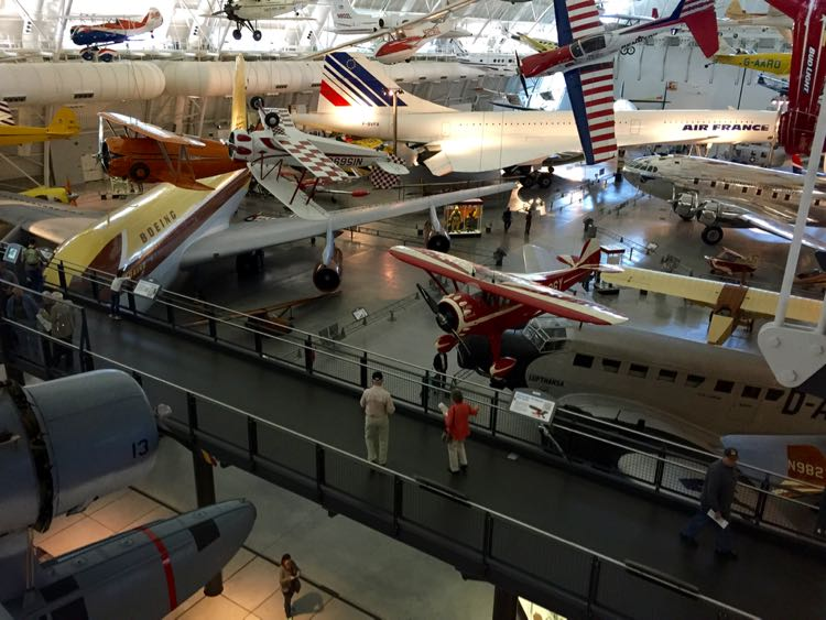 Catwalk over Commercial Aviation Udvar-Hazy Air and Space