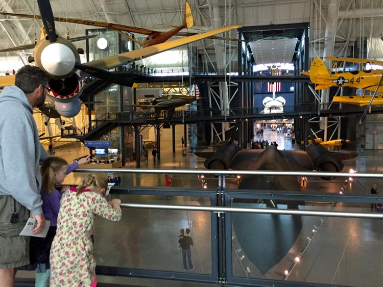 Family fun Udvar-Hazy Air and Space