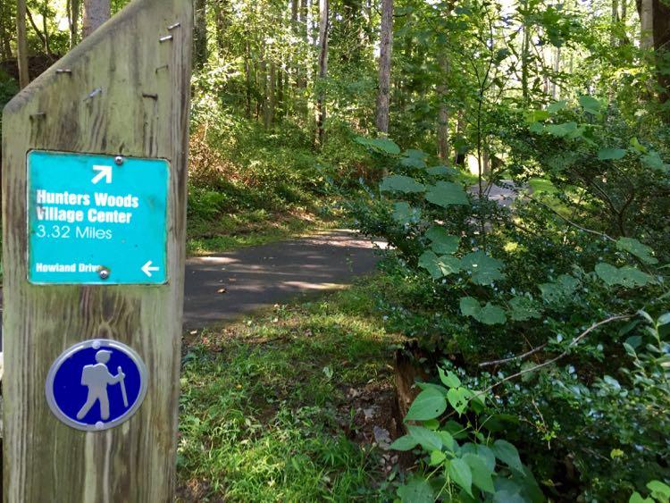Glade Stream Valley Trail marker