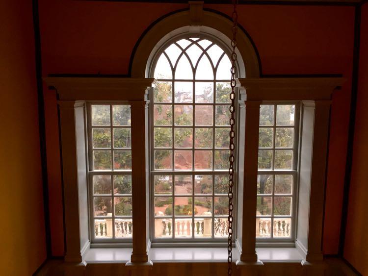 Ornate window Alexandria's Carlyle House