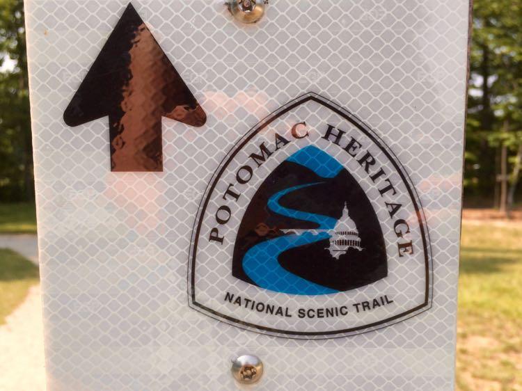 Potomac Heritage Trail hikes marker