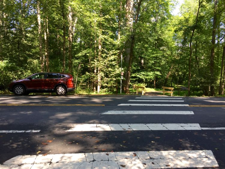 Soapstone Drive crossing and parking Reston