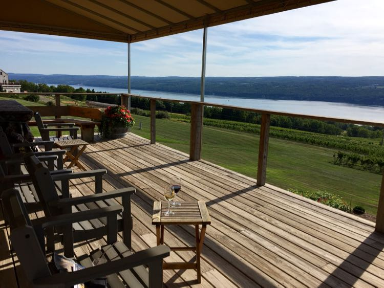 Atwater Vineyards deck Seneca Lake NY