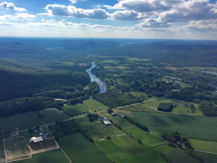 Chemung Valley Sailplane view over Elmira NY