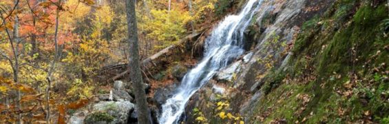 Crabtree Falls cascade, fall hikes in Virginia