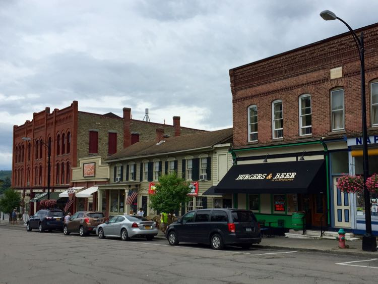 Downtown Hammondsport, Southern Finger Lakes getaway