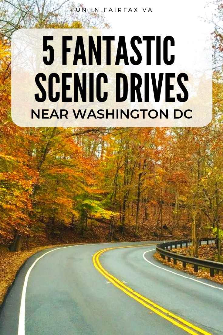 5 fantastic scenic drives near Washington DC with stops and activities along the way, perfect for a Virginia day trip.