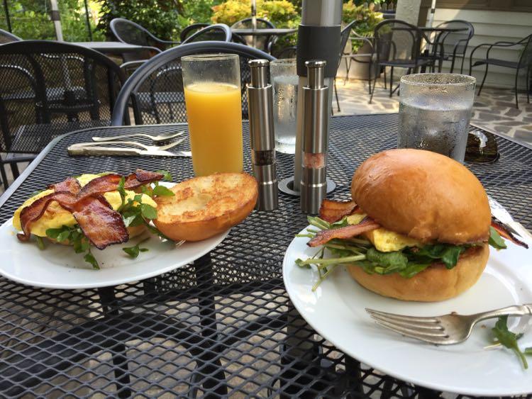Breakfast at Oakhurst Inn Cafe Charlottesville