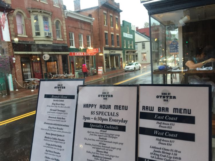 King Street Oyster Bar happy hour Leesburg VA