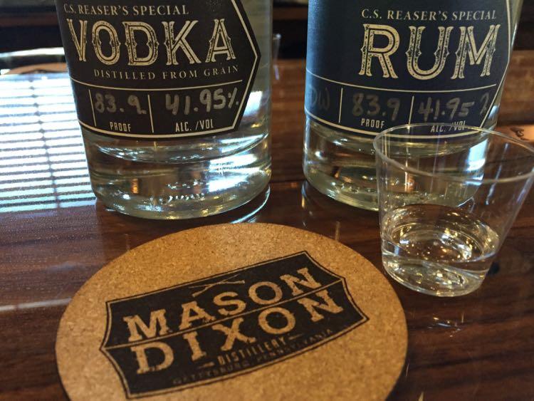 Mason Dixon Distillery spirits Gettysburg PA