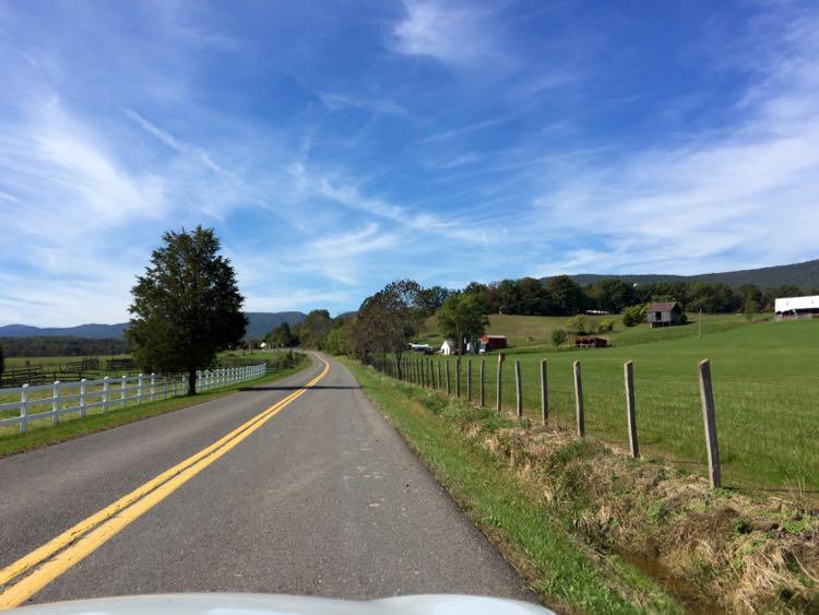Country road Frederick County VA Shenandoah Valley