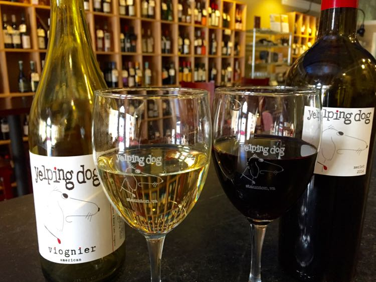 Yelping Dog Wine Bar Staunton Virginia