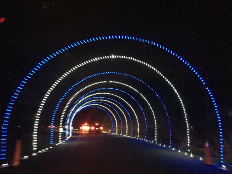 Bull Run Festival of Lights tunnel