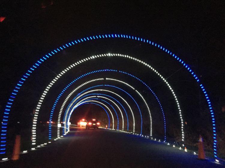 Bull Run Festival of Lights tunnel