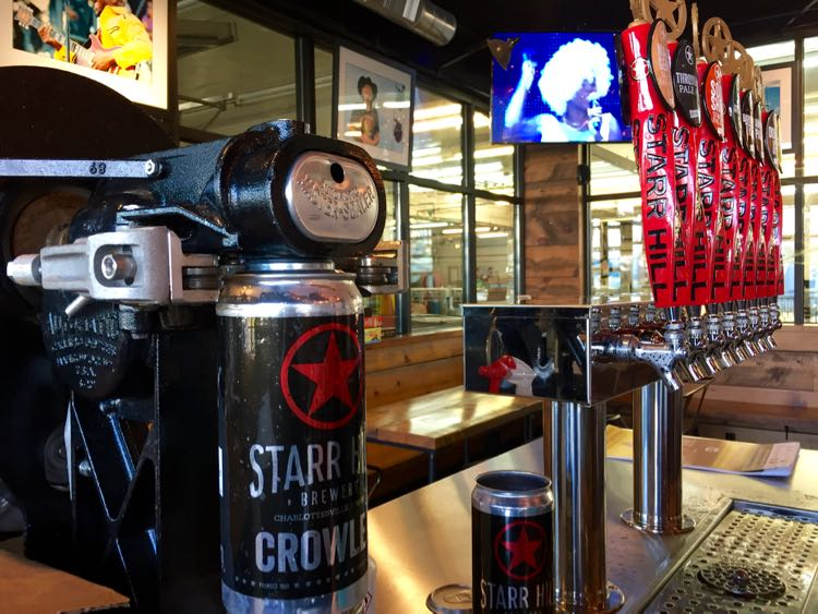 Crowlers and Taps Starr Hill Brewery Crozet Virginia