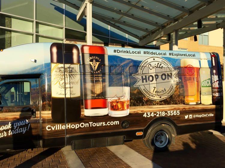 Cville Hop on Tour bus Charlottesville Virginia