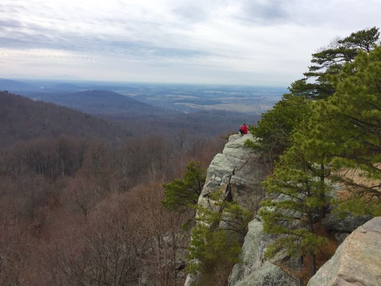 Raven Rocks hike on the Appalachian Trail in Bluemont Virginia