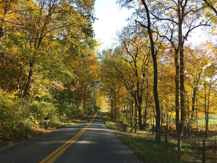 Scenic drive near Roanoke Virginia