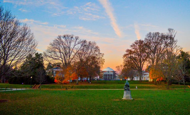 UVA Lawn Charlottesville Virginia; photo credit: Katherine McCool