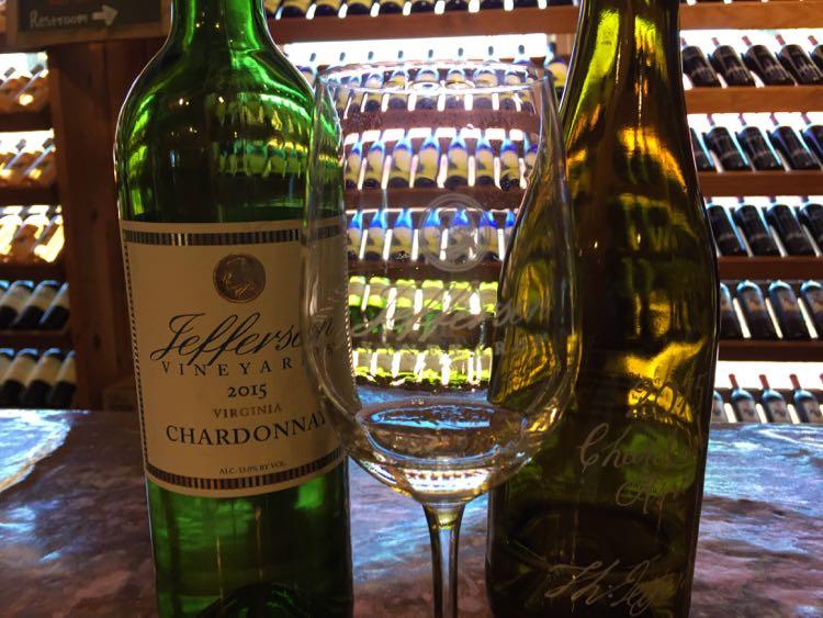 Wine tasting Jefferson Vineyards Charlottesville Virginia